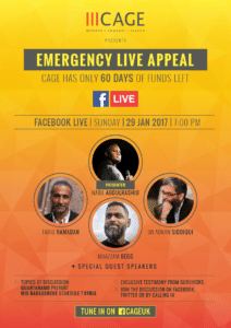 CAGE LIVE Fundraiser (poster)