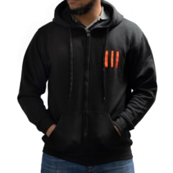 Black 3-Bar Hoody